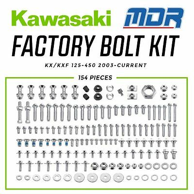 MDR Kawasaki Factory Pro Bolt Hardware Kit for KX KXF 125 - 450