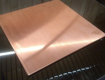 "1/8"" COPPER SHEET PLATE NEW 12""x12"" .125 THICK *CUSTOM 1/8 SIZES AVAILABLE*"