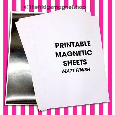 10 Sheets A4 Magnetic Photo Paper MATT for Ink Jet Printable Sheets