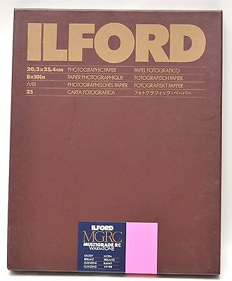 25 Pk ILFORD MGRC Warmtone 8x10 Paper B&W GLOSSY Sealed