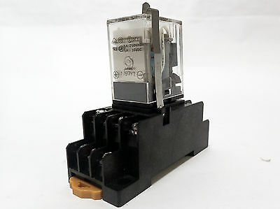 Lot Of 11 Omron My4N-D2 24Vdc Relays With Various Bases