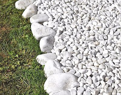 10 kg Natural POLISHED Stones Pebbles Gravel Chippings SNOW WHITE HOME & GARDEN