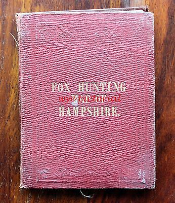 Early Fox Hunting Map Hampshire & Isle Of Wight On Linen J & C Walker No 14