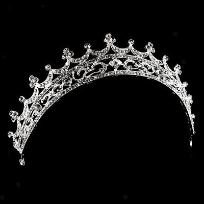 Wedding Bridal Princess Crown Crystal Rhinestone Moon Tiara Prom Headband