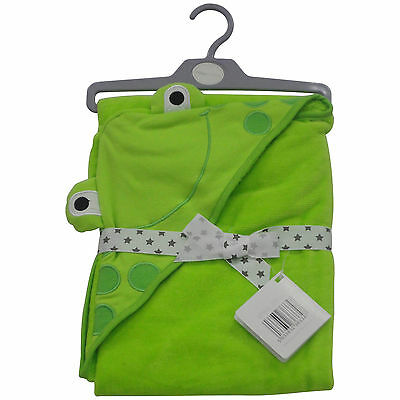 Babies Frog Bath Towel - Hooded Cotton - NEW Free Delivery