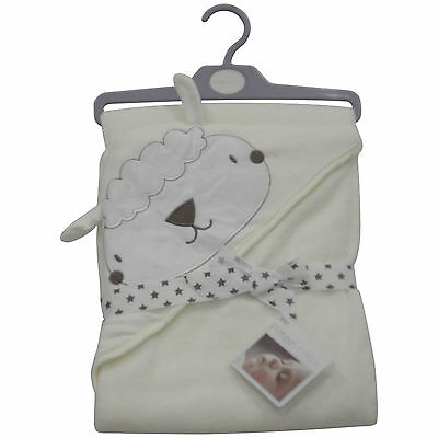 Babies Sheep Bath Towel - Hooded Cotton NEW Free Delivery