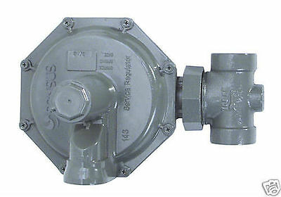 "Natural Gas Regulator, Sensus 143-80-2, 3/4""npt green 6-14"" 3/8 orifice"