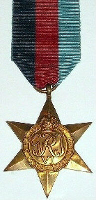 Ww2, 1939-45 Star, 100% Genuine Full Size, With Free Uk Postage