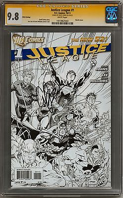 Justice League #1 CGC Signature Series 9.8 (W) Fifth Printing (Geoff Johns)