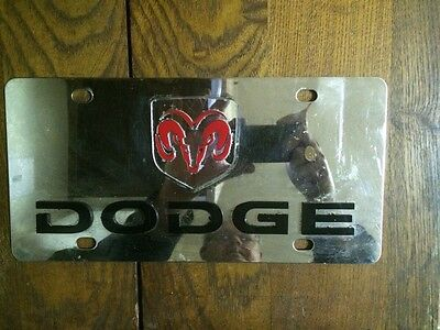 Used Mirrored Dodge License Plate Chrome Dodge Plate