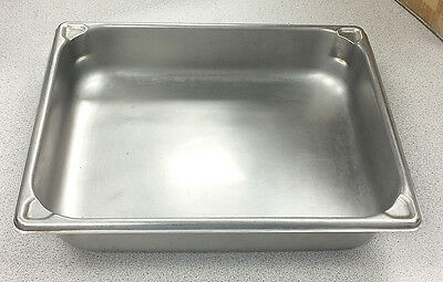 Vollrath Super Pan II 1/2 size 4.3 Quarts 3022-2 Stainless steel steam table pan