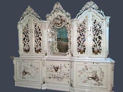 Antique Italian Venetian Dining Room Buffet From About 1940 -