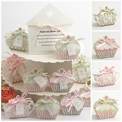 Luxury DIY Vintage Wedding Tea Party Favour Gift Boxes - With Love Afternoon Tea
