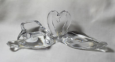 "RARE Baccarat 9""  LOVING SWANS, signed, Great Wedding Gift"