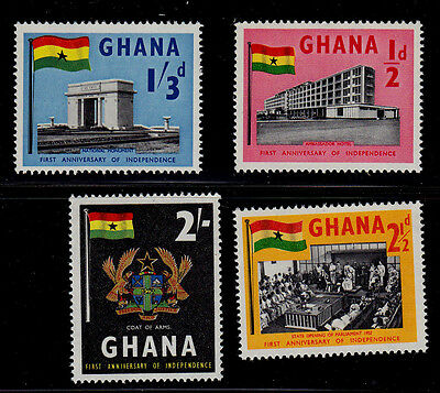 Ghana    Scott# 17-20    Mnh    Independence Issue