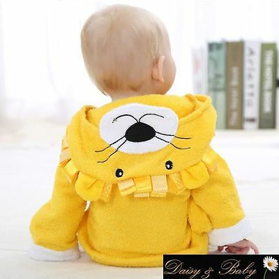 hooded baby towel bath dressing gown bath UK infant kids children bedtime beach