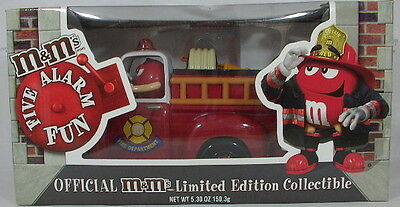 Official M&M's Limited Edition Collectible Fire Truck Candy Dispenser