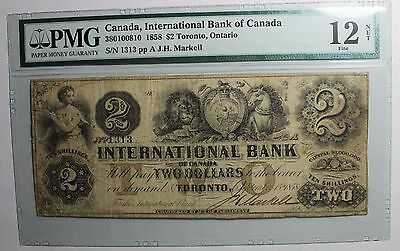 1858 $2 International Bank of Canada