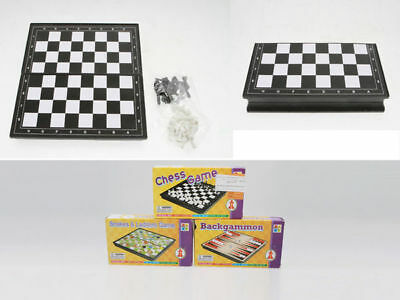 3 Travel Game Stations Play Chess Backgammon Snakes And Ladders Loads OF Fun!