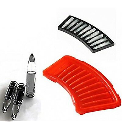 Silicone/Plastic Bullet Shape Ice Freeze Cube Tray Maker Mould Bar Party Drink