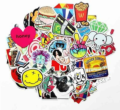 100pcs Stickers Skateboard Sticker Graffiti Laptop Luggage Car Decals mix lot