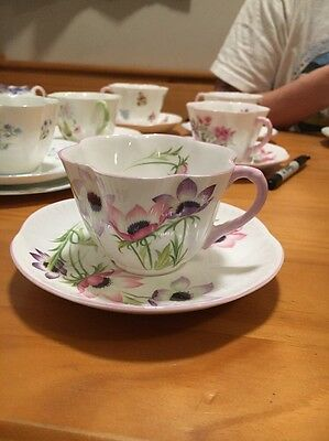 Shelley Dainty Wind Flower cup and saucer