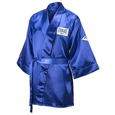 New Everlast Boxing Satin Robe 3/4 Fingertip Length Size: XX-Large Color: Blue