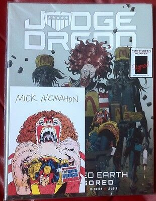 THE CURSED EARTH UNCENSORED SIGNED BOOKPLATE MICK MCMAHON 1ST ED PB Pat Mills