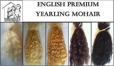 British Premium Yearling Mohair for Reborns and Doll Making 1/4 oz