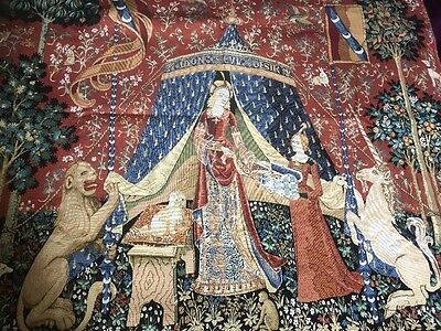 Big Medieval Tapestry Lady and the Unicorn
