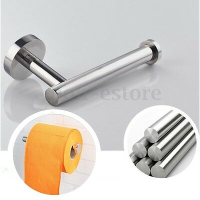 Stainless Steel Bathroom Wall Toilet Paper Holder Roll Tissue Holder Rack Screws
