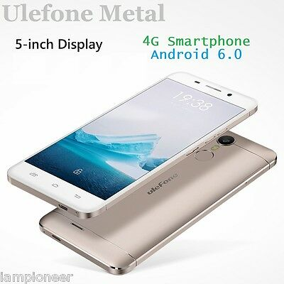 "5,0"" Ulefone Metal 4G Smartphone Android 6.0 Téléphone Octa Core 3Go+16Go 2 SIM"