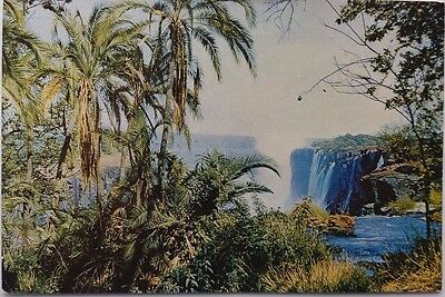 Rhodesia 1968 Victoria Falls Picture Post Card Sent Airmail Raylton To Germany
