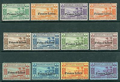 SG F65/76 New herbrides 1941 Set of 12 Values fine unmounted mint CAT £200