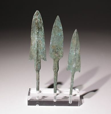 Museum Quality Bronze Age Arrowheads Luristan,persia 1200-800Bc   010