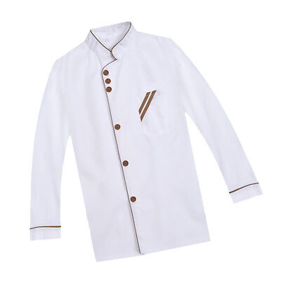 Hotel Chef Uniform Suit Long Sleeves Jacket Restaurant Kitchen Uniform M