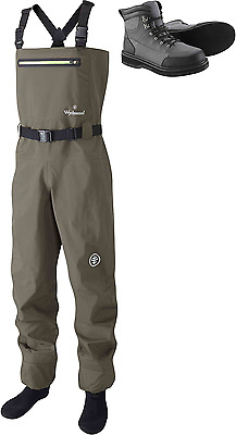 Wychwood Source Breathable Stocking Foot Chest Fishing Waders + Wading Boots