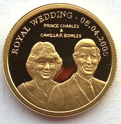 Cook 2005 Royal Wedding 10 Dollars Gold Coin,Proof