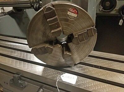 Pratt Model 355L 9 Inch 4 Jaw Independent Chuck with L00 Mount (Inv.37023)