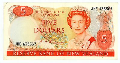 New Zealand  ... P-171b ... 5 Dollars ... ND(1985-89) ... CH*XF*