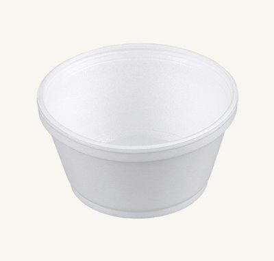 Dart 8SJ20, 8-Oz White Foam Food Container with Vented Lid, CASE OF 50