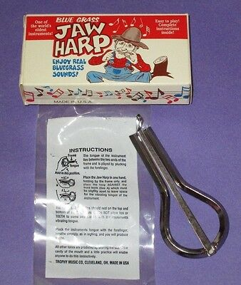 Trophy Music Co Jaw Harp with Instructions Bluegrass Instrument Made in USA