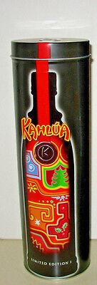 KAHLUA LIMITED EDITION 1 COLLECTIBLE TIN bar mancave xmas decoration storage can