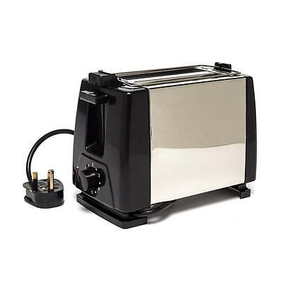 Quest Low Wattage Stainless Steel Toaster Black