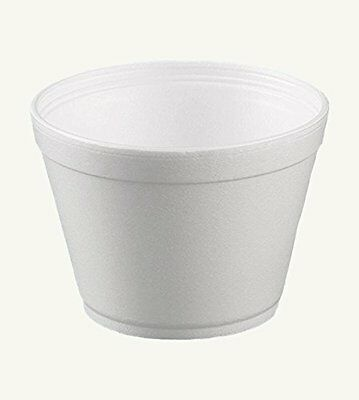 Dart 16MJ32, 16 Oz. White Foam Food Container with Vented Lid, CASE OF 100
