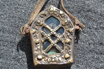 GaoTibetan Buddhism Amulet Pendant armored Whit Blessings protection.Nepal