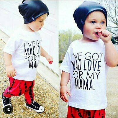 2pcs Toddler Kids Baby Boys Outfits T-shirt Tops+Long Pants Trousers Clothes Set