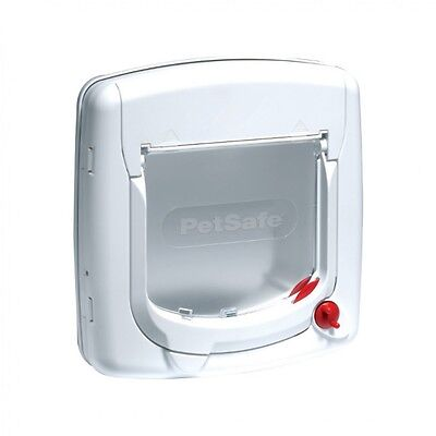 Petsafe Staywell 300 White Cat Flap With 4 Way Locking Great Value Pet Door
