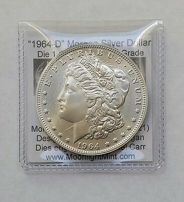 1964-D $1 Daniel Carr Fantasy Overstrike Silver Morgan Dollar Die Pair 1 Clashed