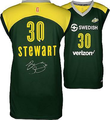Breanna Stewart Seattle Storm Autographed Green Replica Jersey